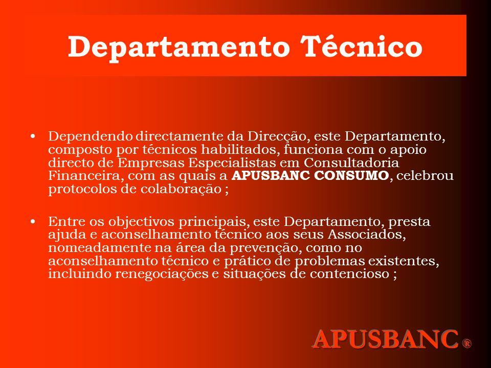 Departamento Técnico Dependendo directamente da Direcção, este Departamento, composto por técnicos habilitados, funciona com o apoio directo de Empres
