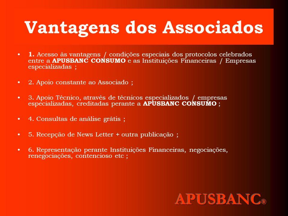 CONTACTOS APUSBANC CONSUMO Avenida Nossa Senhora do Rosário, Edifício Biarritz, nrº 603 – 2 andar sala - J 2751 – 179 Cascais – Portugal Telefone: 21 600 17 61/91 769 83 03 E-mail : geral@apusbanc.com.pt www.apusbanc.com.pt