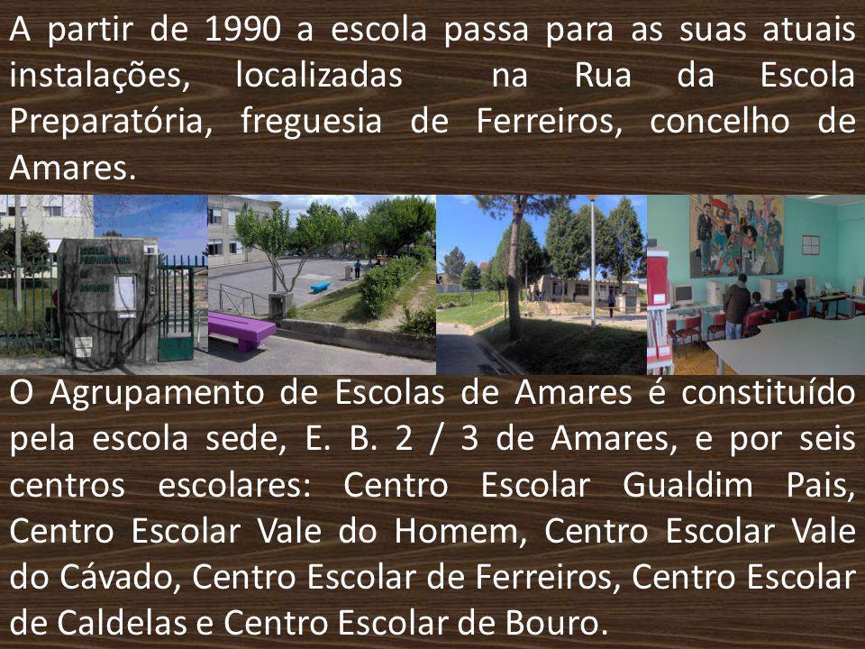 A partir de 1990 a escola passa para as suas atuais instalações, localizadas na Rua da Escola Preparatória, freguesia de Ferreiros, concelho de Amares