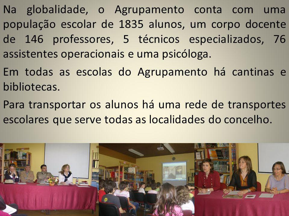 Na globalidade, o Agrupamento conta com uma população escolar de 1835 alunos, um corpo docente de 146 professores, 5 técnicos especializados, 76 assis