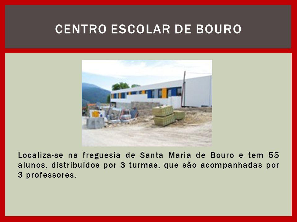 Localiza-se na freguesia de Santa Maria de Bouro e tem 55 alunos, distribuídos por 3 turmas, que são acompanhadas por 3 professores. CENTRO ESCOLAR DE