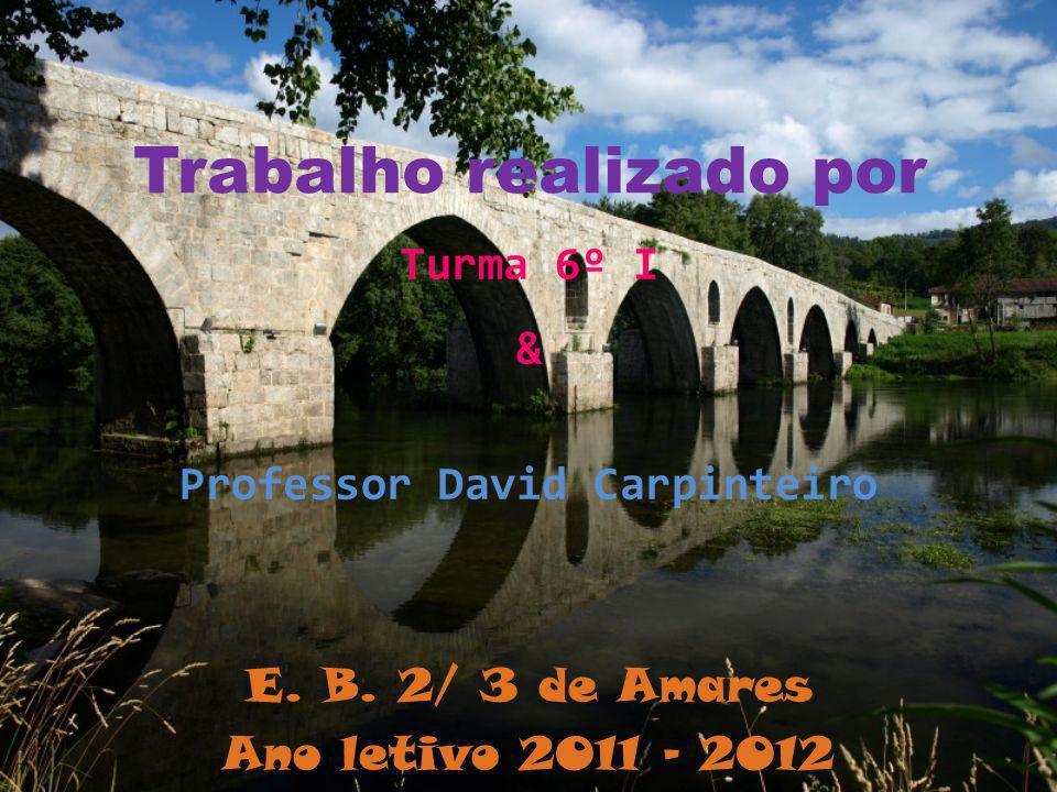 Trabalho realizado por Turma 6º I & Professor David Carpinteiro E. B. 2/ 3 de Amares Ano letivo 2011 - 2012