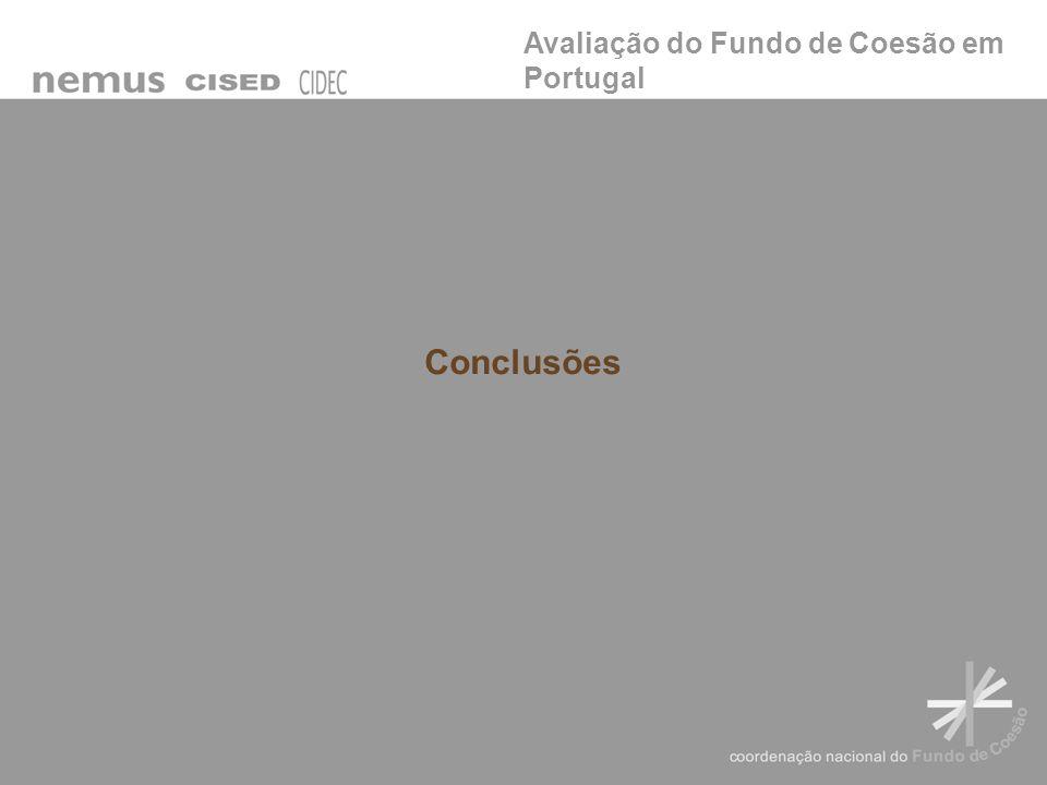 Avaliação do Fundo de Coesão em Portugal Conclusões