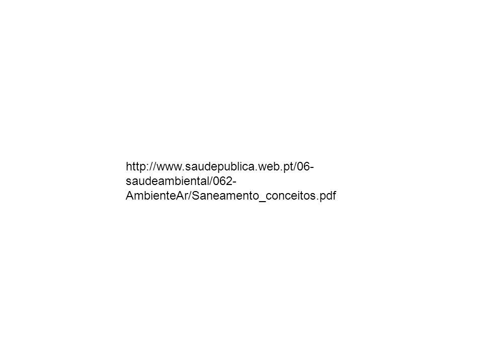 http://www.saudepublica.web.pt/06- saudeambiental/062- AmbienteAr/Saneamento_conceitos.pdf