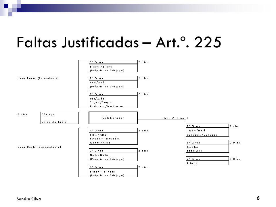 6 Sandra Silva Faltas Justificadas – Art.º. 225