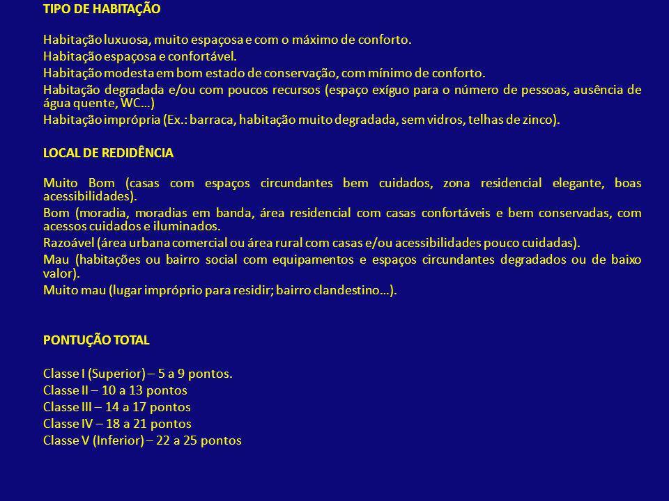 Escola Secundária Mães dÁgua Índice Graffar – dimensão residencial pontuação 3 e 5; Área envolvente da Escola Secundária Mães d´Água, Falagueira, Amadora