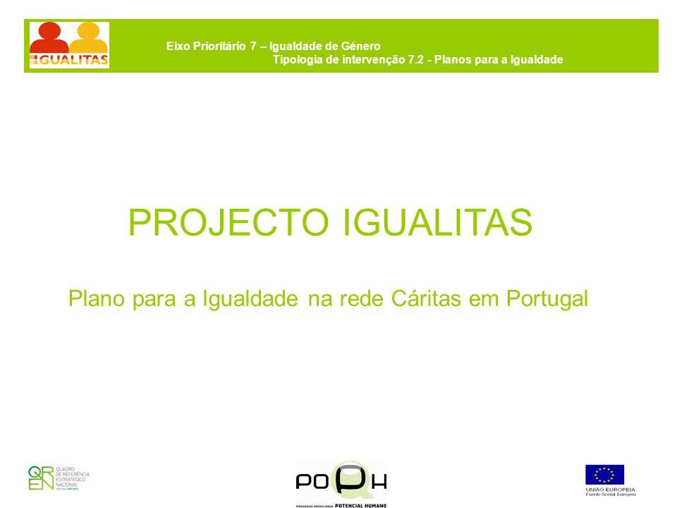 Eixo Prioritário 7 – Igualdade de Género Tipologia de intervenção 7.2 - Planos para a Igualdade Gestão do projecto A Cáritas Portuguesa concentrará a gestão do processo técnico- administrativo-financeiro e fará a ligação com a CIG (Comissão para a Cidadania e Igualdade de Género).