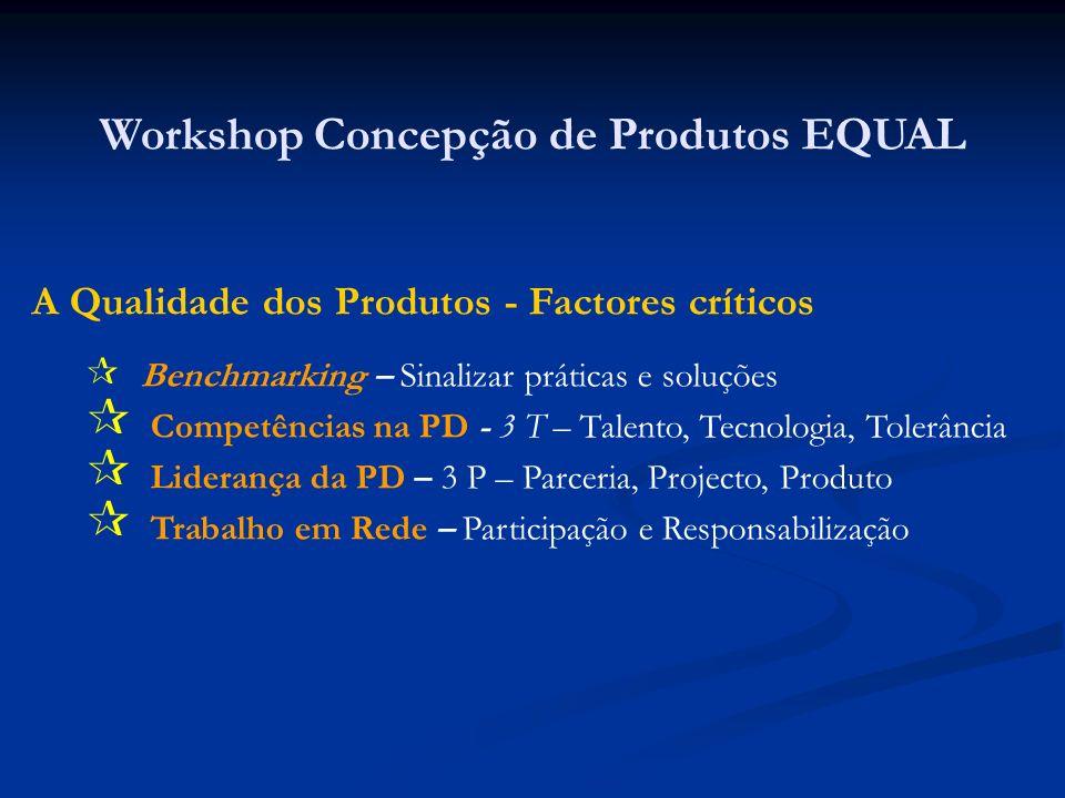 Factores associados ao benchmarking (procura activa de práticas, soluções e produtos próximos dos nossos problemas de partida – em rigor qual é o problema de partida.