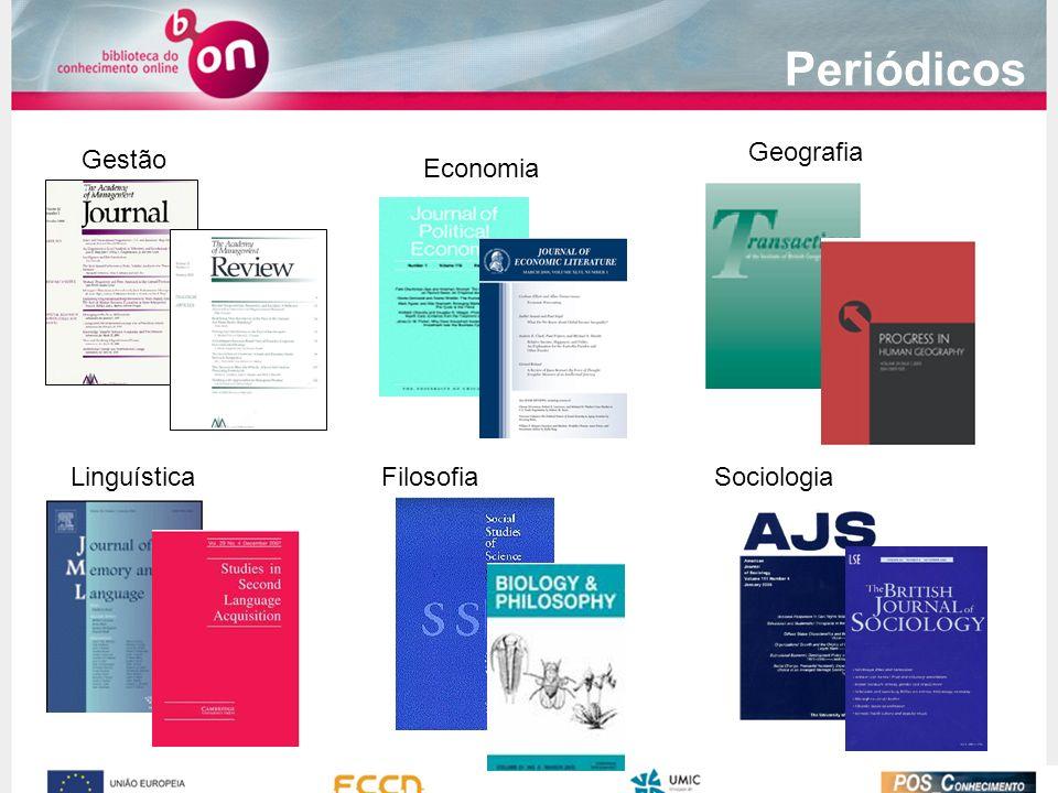 Periódicos Gestão Economia Geografia LinguísticaFilosofiaSociologia
