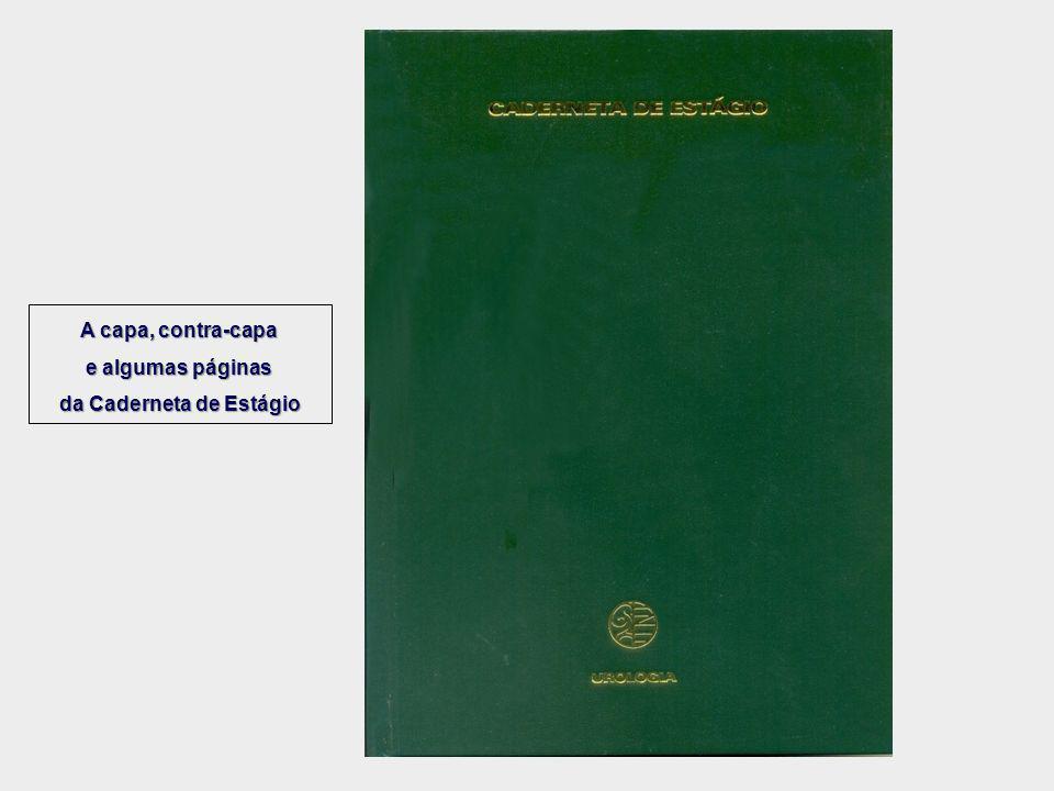 A capa, contra-capa e algumas páginas da Caderneta de Estágio