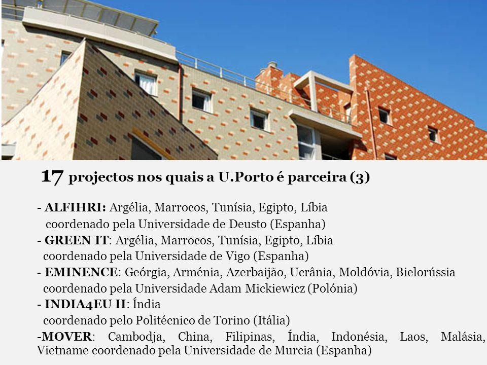 17 projectos nos quais a U.Porto é parceira (3) - ALFIHRI: Argélia, Marrocos, Tunísia, Egipto, Líbia coordenado pela Universidade de Deusto (Espanha)