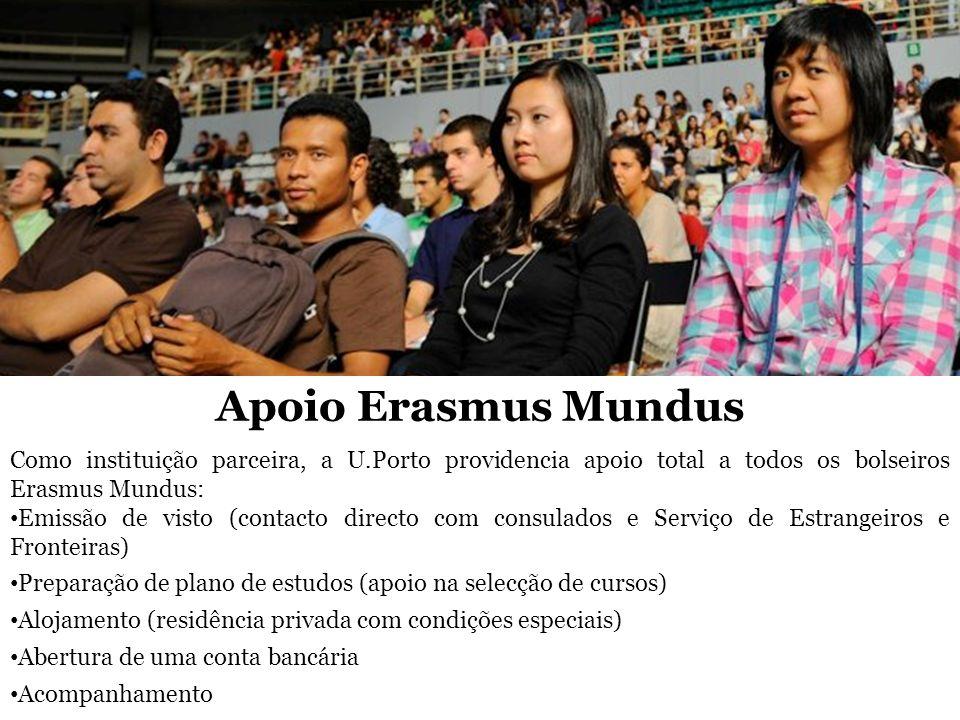 Como instituição parceira, a U.Porto providencia apoio total a todos os bolseiros Erasmus Mundus: Emissão de visto (contacto directo com consulados e
