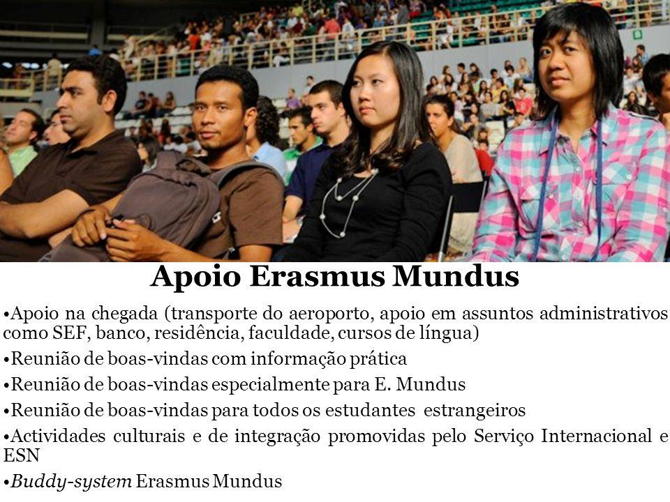 Apoio na chegada (transporte do aeroporto, apoio em assuntos administrativos como SEF, banco, residência, faculdade, cursos de língua) Reunião de boas