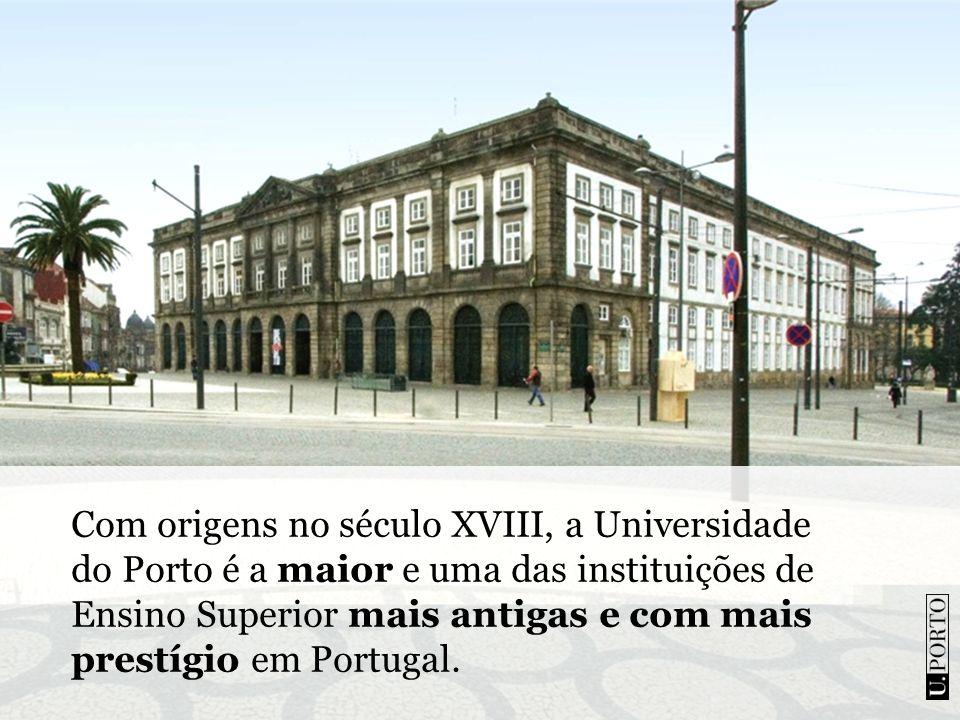 Com origens no século XVIII, a Universidade do Porto é a maior e uma das instituições de Ensino Superior mais antigas e com mais prestígio em Portugal