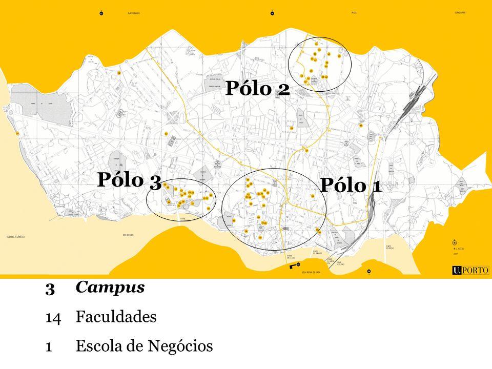 Pólo 1 Pólo 2 Pólo 3 3 Campus 14 Faculdades 1 Escola de Negócios