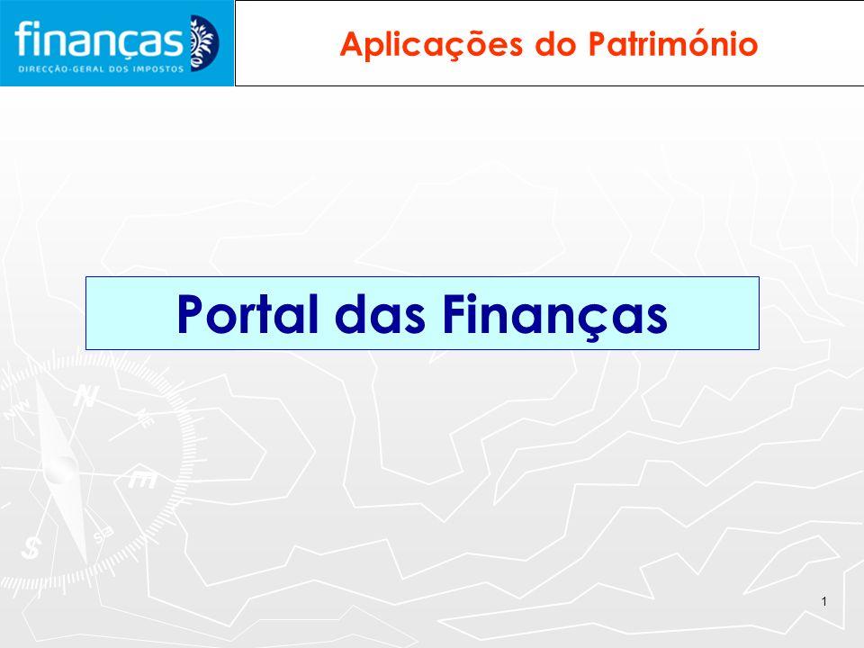 1 Aplicações do Património Portal das Finanças