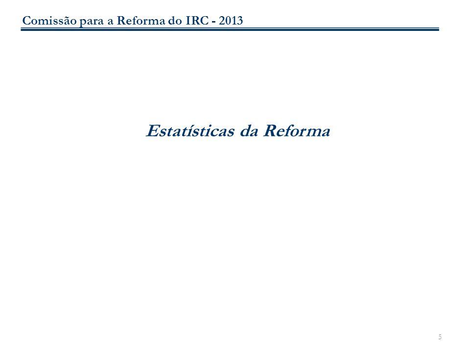 5 Estatísticas da Reforma Comissão para a Reforma do IRC - 2013