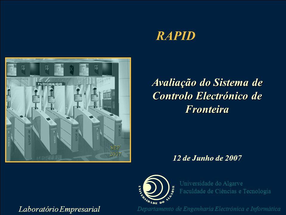 Laboratório Empresarial labemp@ualg.pt RAPID Universidade do Algarve Faculdade de Ciências e Tecnologia Departamento de Engenharia Electrónica e Informática Tempos Tempo Total de Passagem Durante a Manhã DesempenhoTemposDados
