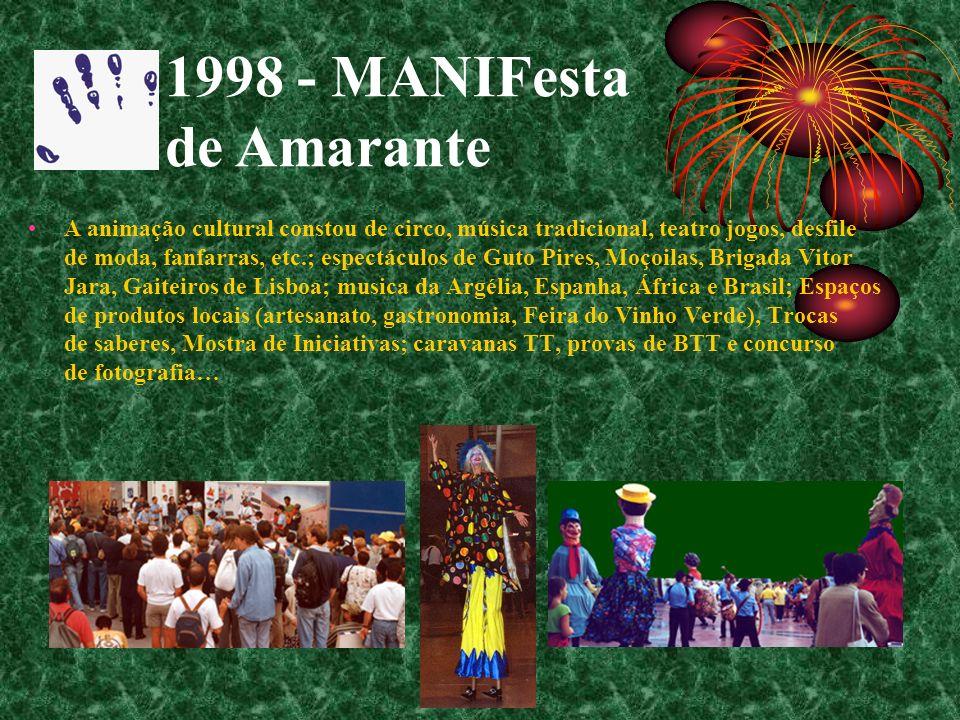 A animação cultural constou de circo, música tradicional, teatro jogos, desfile de moda, fanfarras, etc.; espectáculos de Guto Pires, Moçoilas, Brigad