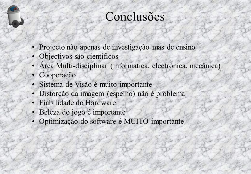 Projecto não apenas de investigação mas de ensino Objectivos são científicos Área Multi-disciplinar (informática, electrónica, mecânica) Cooperação Si