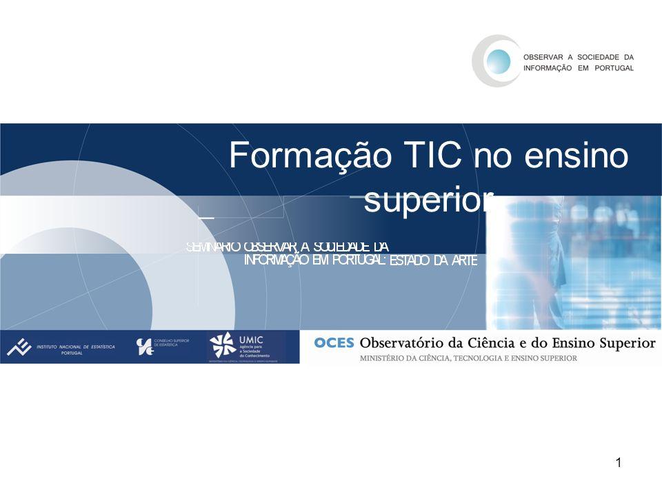 2 Objecto da apresentação: Oferta e procura de cursos TIC no Ensino Superior Período de referencia: 1997/1998 a 2004/2005.