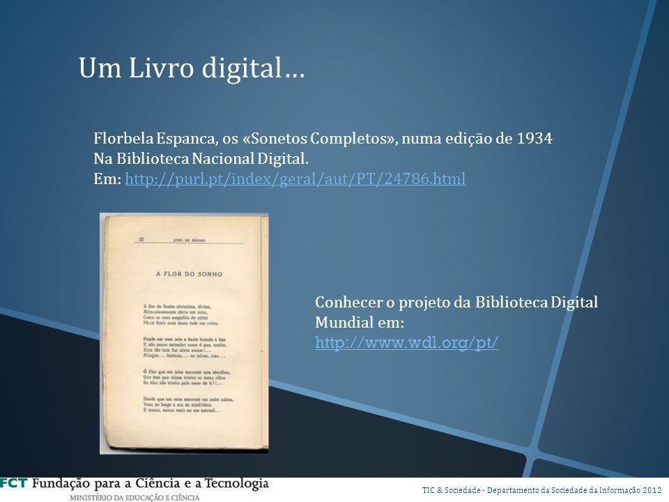 Um Livro digital… Florbela Espanca, os «Sonetos Completos», numa edição de 1934 Na Biblioteca Nacional Digital. Em: http://purl.pt/index/geral/aut/PT/