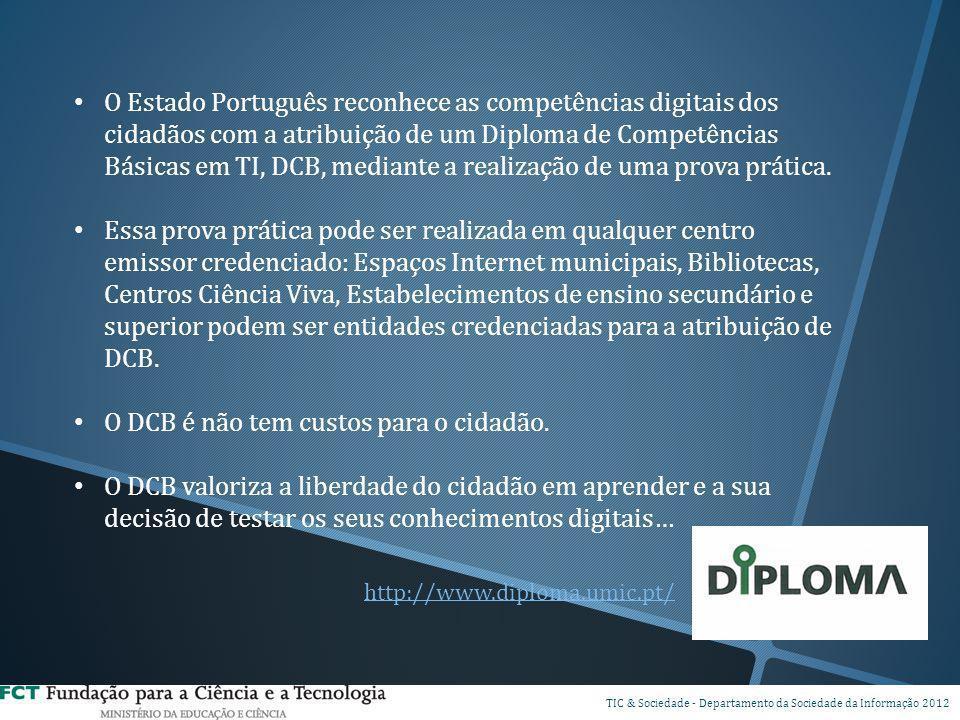 O Estado Português reconhece as competências digitais dos cidadãos com a atribuição de um Diploma de Competências Básicas em TI, DCB, mediante a reali