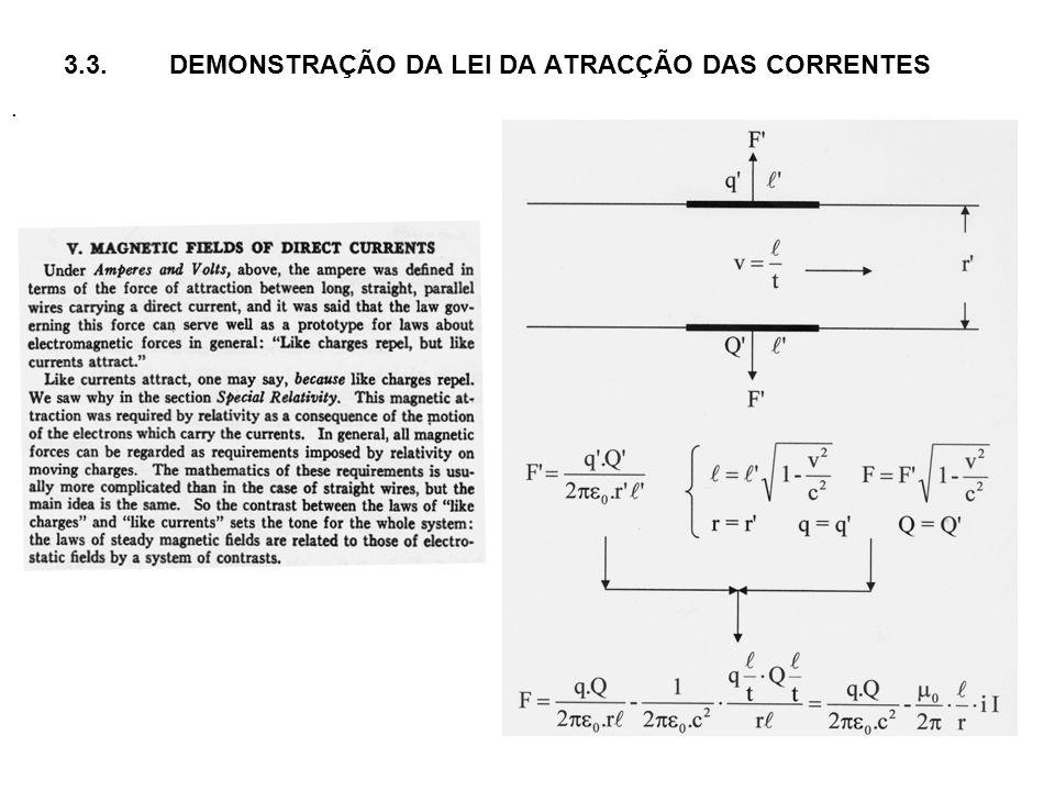 3.3.DEMONSTRAÇÃO DA LEI DA ATRACÇÃO DAS CORRENTES.