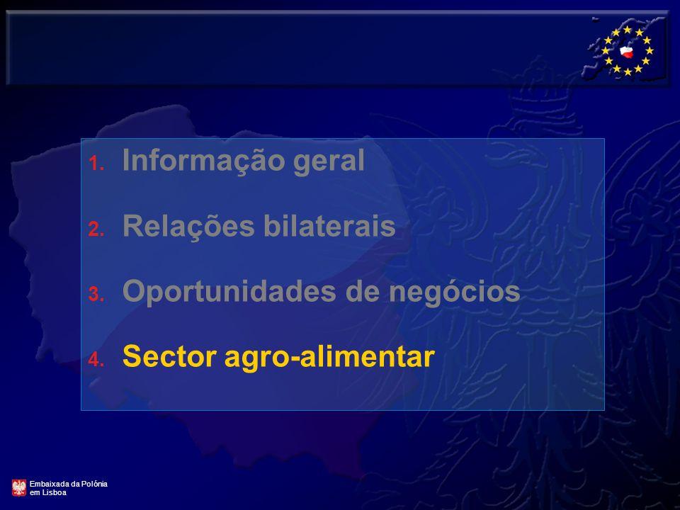 19 Sectores de grandes oportunidades na Polónia para as empresas Portuguesas CONSTRUÇÃO CIVIL E OBRAS PÚBLICAS MÁQUINAS E EQUIPAMENTOS PARA A CONSTRUÇ