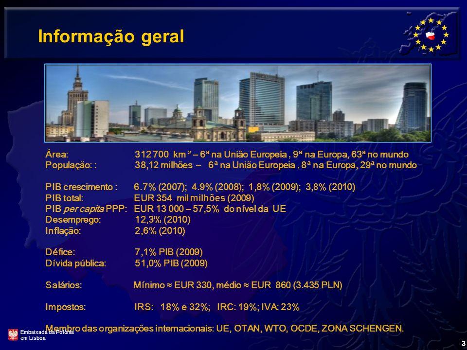 1. Informação geral 2. Relações bilaterais 3. Oportunidades de negócios 4. Sector agro-alimentar Embaixada da Polónia em Lisboa