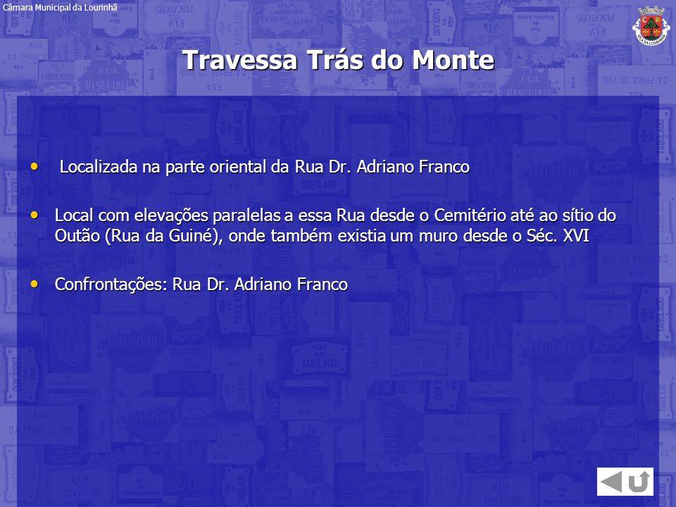 Localizada na parte oriental da Rua Dr. Adriano Franco Localizada na parte oriental da Rua Dr. Adriano Franco Local com elevações paralelas a essa Rua