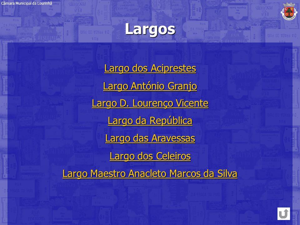 Largo da República Largo da RepúblicaLargos Largo D. Lourenço Vicente Largo D. Lourenço Vicente Largo das Aravessas Largo das Aravessas Largo dos Cele