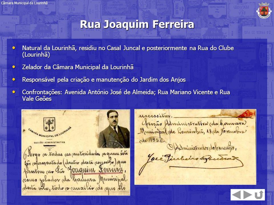 Natural da Lourinhã, residiu no Casal Juncal e posteriormente na Rua do Clube (Lourinhã) Natural da Lourinhã, residiu no Casal Juncal e posteriormente