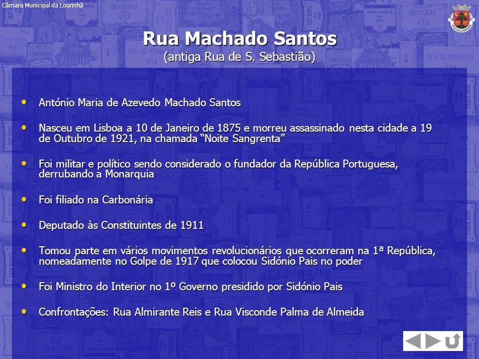 António Maria de Azevedo Machado Santos António Maria de Azevedo Machado Santos Nasceu em Lisboa a 10 de Janeiro de 1875 e morreu assassinado nesta ci