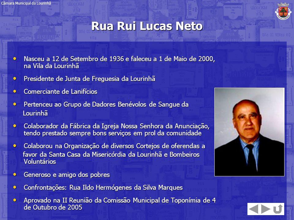 Nasceu a 12 de Setembro de 1936 e faleceu a 1 de Maio de 2000, na Vila da Lourinhã Nasceu a 12 de Setembro de 1936 e faleceu a 1 de Maio de 2000, na V