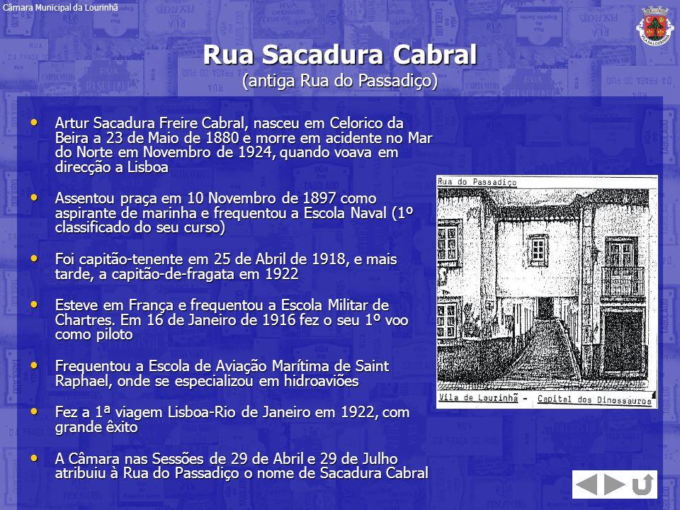 Artur Sacadura Freire Cabral, nasceu em Celorico da Beira a 23 de Maio de 1880 e morre em acidente no Mar do Norte em Novembro de 1924, quando voava e