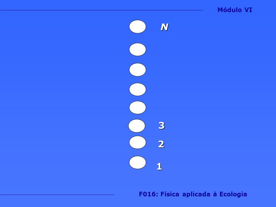 1 2 3 N Módulo VI F016: Física aplicada à Ecologia