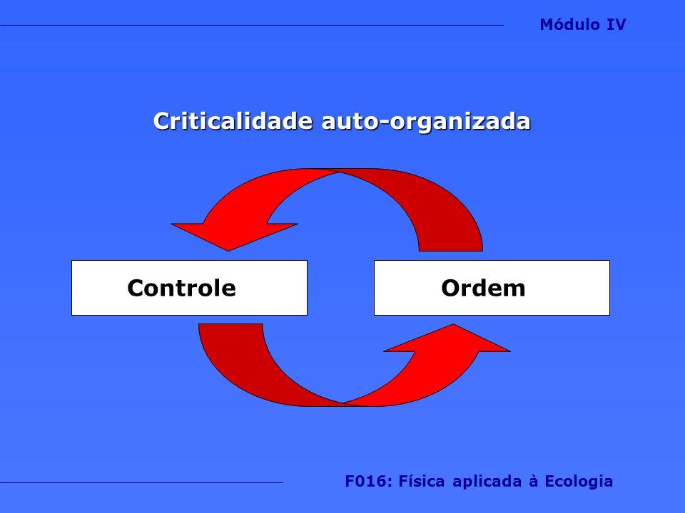 Criticalidade auto-organizada Módulo IV F016: Física aplicada à Ecologia ControleOrdem
