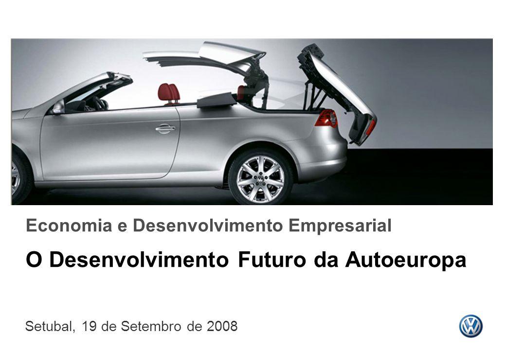 Economia e Desenvolvimento Empresarial O Desenvolvimento Futuro da Autoeuropa Setubal, 19 de Setembro de 2008