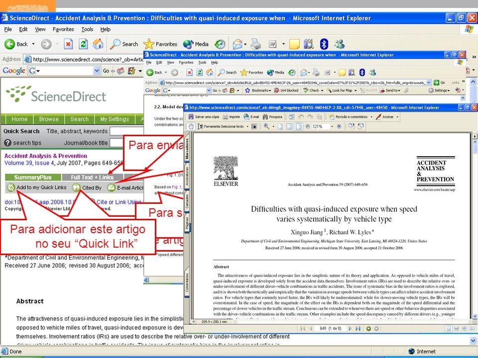 12 Para verificar os documentos que citaram este artigo Para salvar um alerta de citação Para enviar o artigo por e- mail Para exportar a citação em f