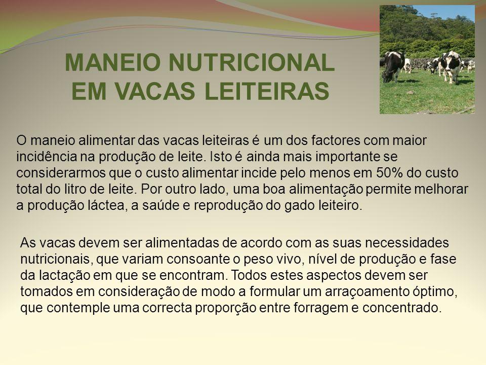 O maneio alimentar das vacas leiteiras é um dos factores com maior incidência na produção de leite. Isto é ainda mais importante se considerarmos que