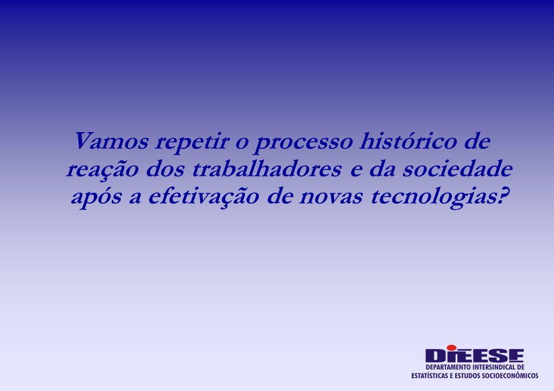 Vamos repetir o processo histórico de reação dos trabalhadores e da sociedade após a efetivação de novas tecnologias?