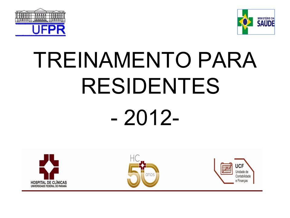 TREINAMENTO PARA RESIDENTES - 2012-