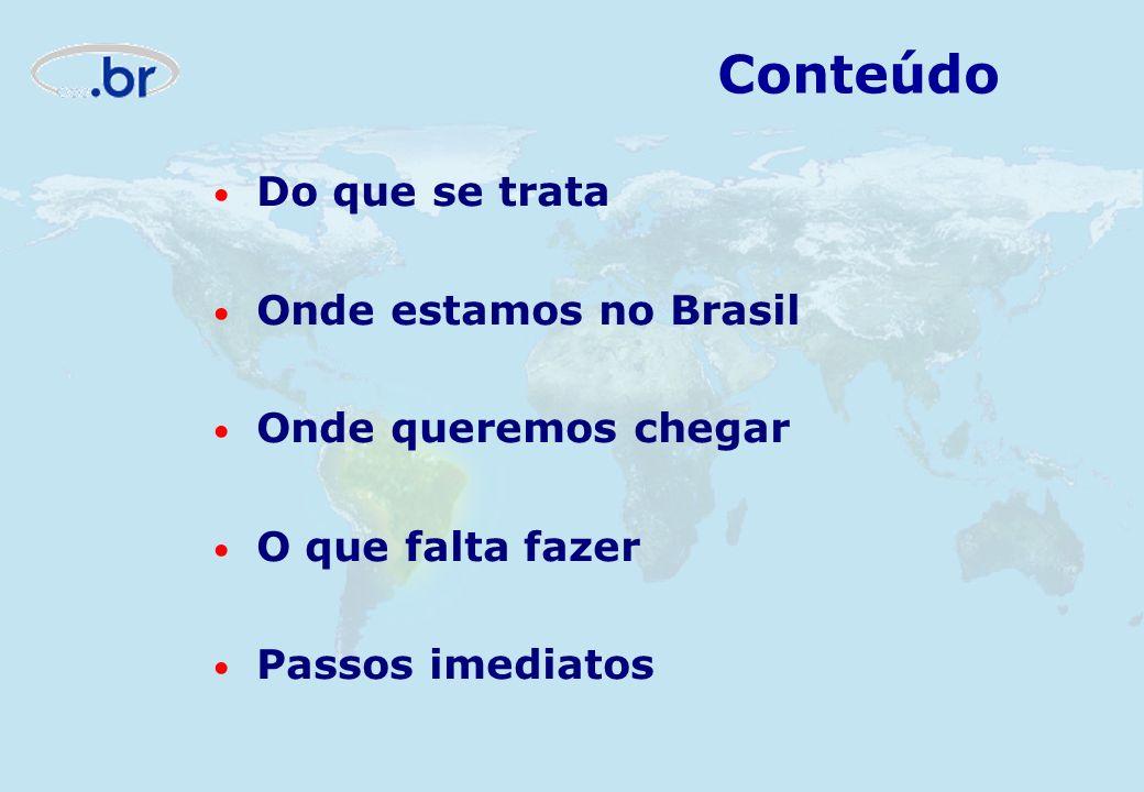 Do que se trata Onde estamos no Brasil Onde queremos chegar O que falta fazer Passos imediatos Conteúdo