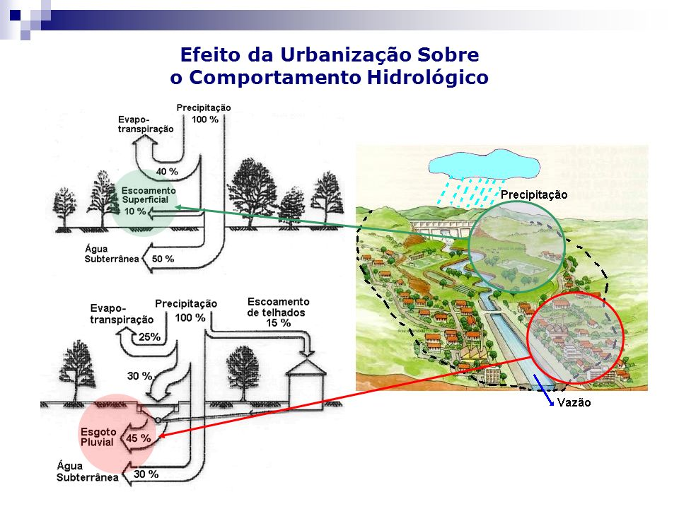 Efeito da Urbanização Sobre o Comportamento Hidrológico
