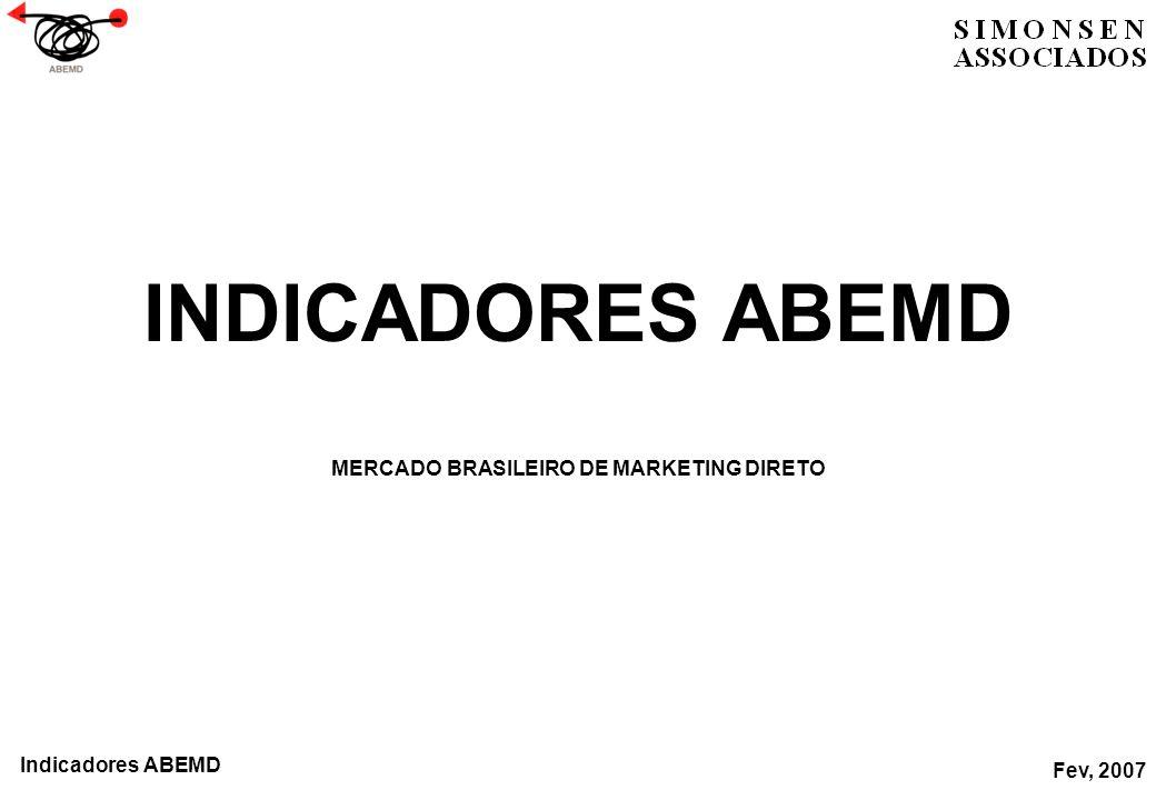 INDICADORES ABEMD MERCADO BRASILEIRO DE MARKETING DIRETO Fev, 2007 Indicadores ABEMD