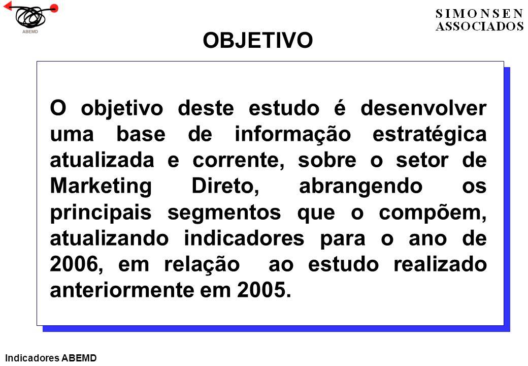 O objetivo deste estudo é desenvolver uma base de informação estratégica atualizada e corrente, sobre o setor de Marketing Direto, abrangendo os princ