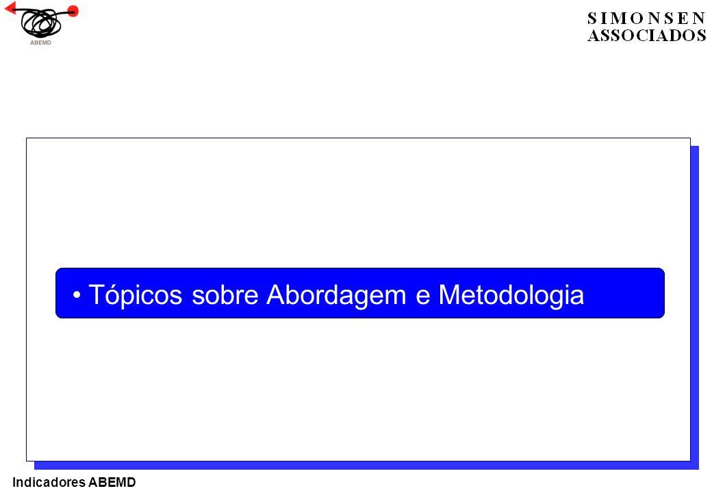 Tópicos sobre Abordagem e Metodologia Indicadores ABEMD