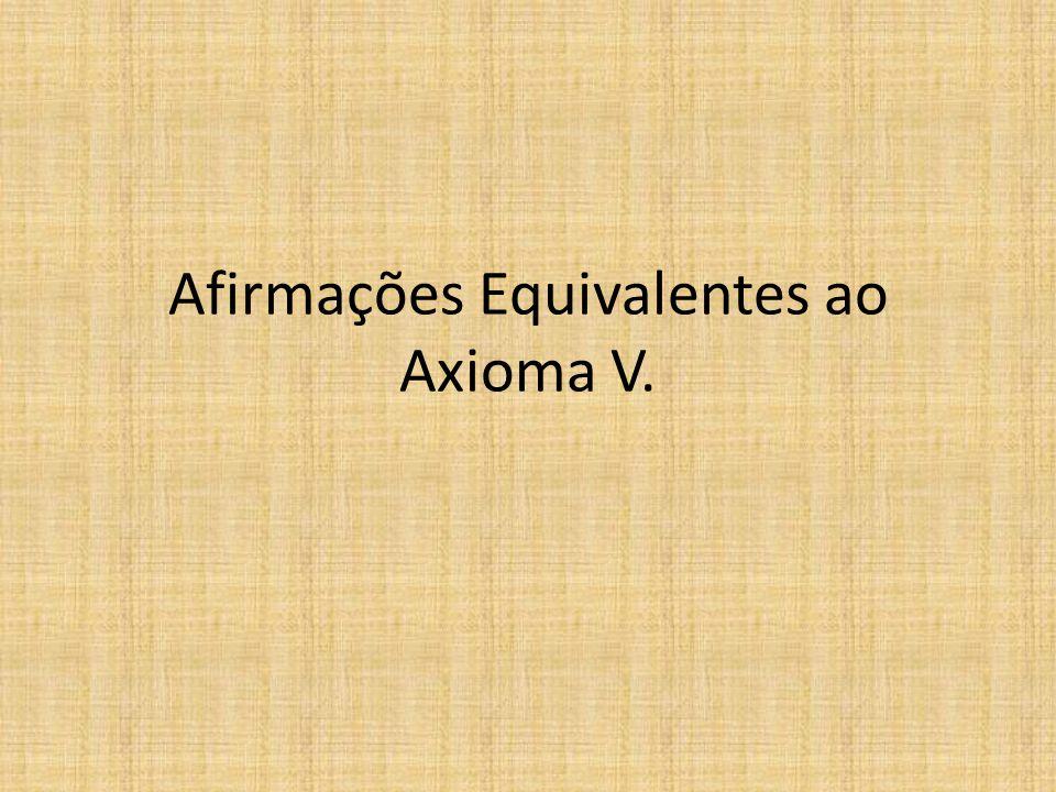 Afirmações Equivalentes ao Axioma V.
