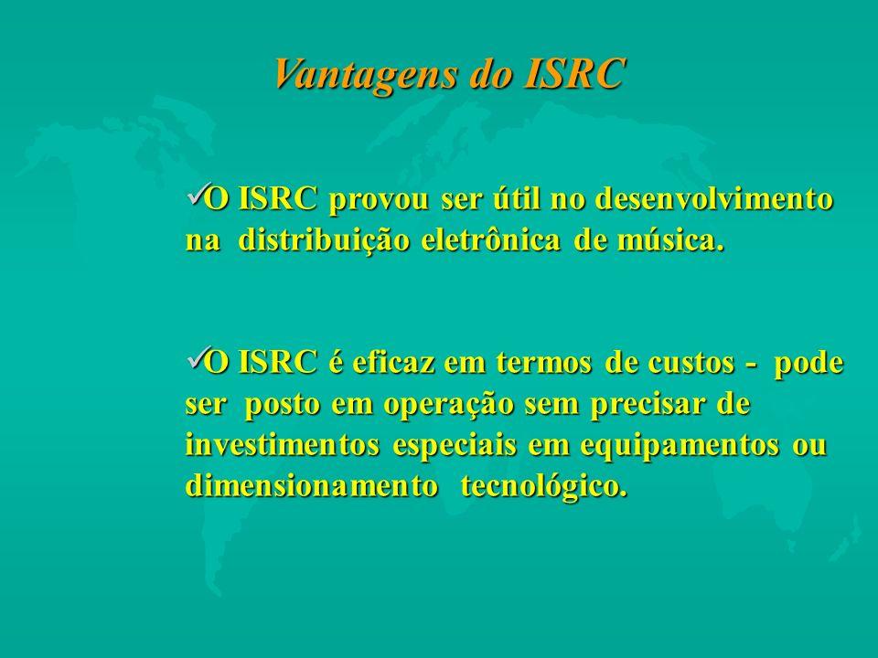O ISRC provou ser útil no desenvolvimento na distribuição eletrônica de música. O ISRC provou ser útil no desenvolvimento na distribuição eletrônica d